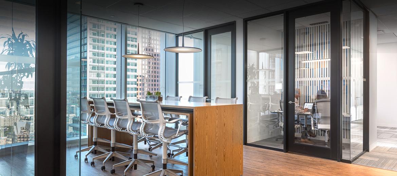 Swing-door-header architectural interior solutions