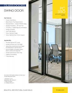 glass swing door brochure